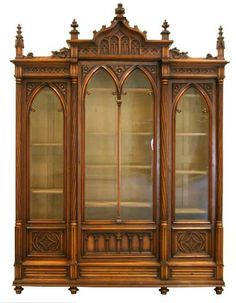 Trendy Home Library Victorian Gothic Victorian Furniture, Victorian Decor, Victorian Gothic, Victorian Homes, Antique Furniture, Walnut Furniture, Die Renaissance, Style Rustique, Victorian Interiors