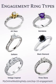 2a65b4cda Inexpensive engagement ring ideas and alternatives. Each of these rings  have real diamonds or gemstones