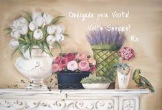 Renata Barillari Decoupage, Chanel Art, Vintage Mirrors, Pintura Country, Rustic Shabby Chic, Cottage Design, Still Life, Art Nouveau, Stencils