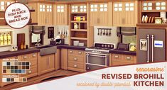 Revised BroHill Kitchen Recolor 20 swatches (for each countertop which makes 60 for every counter counter island bar and sink) Parenthood Game Pack is required for the Bread box. Kitchen Island Storage, Modern Kitchen Island, Kitchen Islands, Kitchen Cabinets, Sims Four, Sims 4 Mm, Sims 4 Pets, Sims 4 Kitchen, Muebles Sims 4 Cc