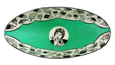 'Brushwork' papier mache bowl.  Sold.