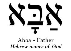 Ab, Abba, Pater: Though the Old Testament provides many rich names and titles for God, the New Testament reveals Him most fully as God The Father - an excerpt from Praying the Names of God by Ann Spangler. Jewish Tattoo, Hebrew Tattoo, Tattoo Fonts, Hebrew Names, Hebrew Words, Bible Quotes, Bible Verses, Hebrew Writing, English To Hebrew