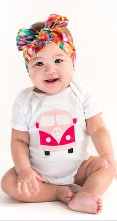 OMG! A VW bus baby onesie <3