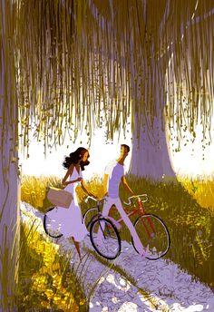 #bike #love #illustration