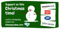 Raise funds for us when you shop online via Give as You Live this Christmas!