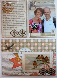 """Romy Veul designed this beautiful """"All About Me"""" Journal using The Avenues collection. Love how every page tells her story. #BoBunny, @Romy Veul"""
