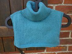 Dani qui tricote et qui crochète : Un plastron tout doux à col roulé