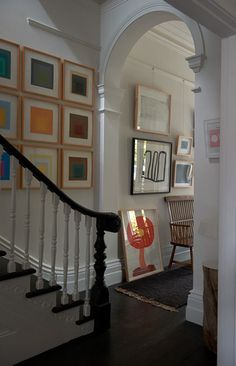 Hallway gallery wall - Josef Albers prints in Victorian remodel in St Vincent Place, Melbourne by O'Connor Houle Victorian Homes, Victorian Hallway, Remodel, Cheap Apartment Decorating, Home Remodeling, French Home Decor, Modern Victorian, Retro Home Decor, Hallway Decorating