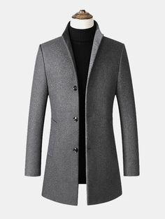 Casual Blazer, Men Casual, Casual Winter, Fall Winter, Autumn, Mens Wool Coats, Windbreaker Jacket, Winter Jackets, Men's Coats And Jackets
