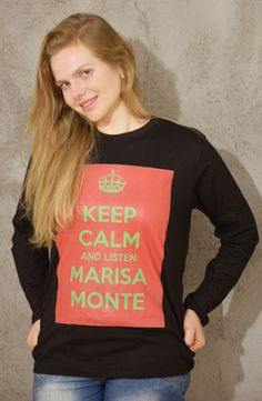 Manga longa - preto algodão orgânico - Marisa Monte