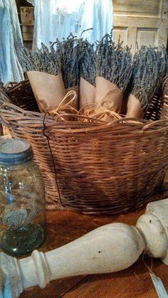 lavender in french basket