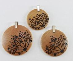 wood pendent