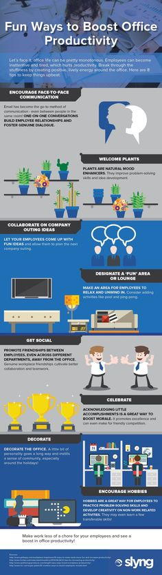 Fun Ways to Boost Office Productivity Infographic - http://elearninginfographics.com/fun-ways-to-boost-office-productivity/