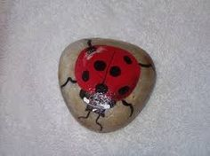 Image result for ladybug stones
