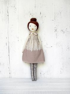Rag doll handmade retro one of a kind/ Adèle by lespetitesmainsS, $120.00