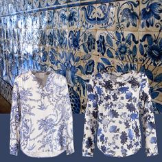Blue and White Portuguese Tiles and Blouses