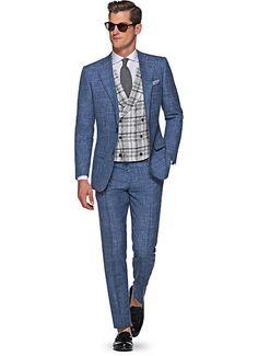 Suit Blue Plain Lazio P4833i | Suitsupply Online Store