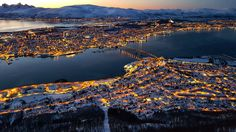 View of Tromso from Fjellheisen See The Northern Lights, Tromso, Aurora Borealis, Mystic, River, World, Outdoor, Northern Lights, Outdoors