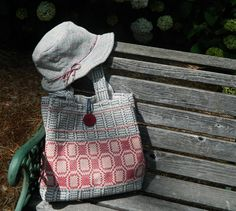 Hand Woven Beige, Blue and Red Purse. $38.00, via Etsy.