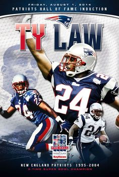 Ty Law will be inducted into the Patriots Hall of Fame....8/1/14