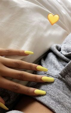Trendy Yellow Nail Art Designs To Make You Stunning In Summer;Acrylic Or Gel Nails; French Or Coffin Nails; Matte Or Glitter Nails; Summer Acrylic Nails, Best Acrylic Nails, Acrylic Nail Art, Acrylic Nail Designs, Acrylic Artwork, Acrylic Nails Yellow, Holiday Acrylic Nails, Summer Holiday Nails, Neon Orange Nails