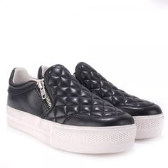 Back in stock: Ash JODIE Trainers Black Quilted Leather Silver Zip    http://www.ashfootwear.co.uk/womens-c1/ash-jodie-trainers-black-quilted-leather-silver-zip-p1300