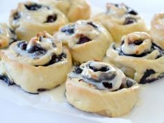 These Blueberry and Cinnamon Scrolls are based on that recipe and have quickly become a family favourite and have been making a regular appearance