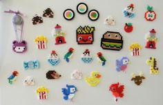 hama/Perler Beads Magnets by JadeDragonne on deviantart