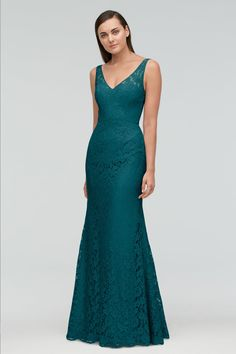 Shop Watters Bridesmaid Dress - 9258 in Aria Lace at Weddington Way. Find the perfect made-to-order bridesmaid dresses for your bridal party in your favorite color, style and fabric at Weddington Way. Beautiful Bridesmaid Dresses, Prom Dresses, Formal Dresses, Green Bridesmaids, Bride Dresses, Gray Weddings, Party Fashion, Wedding Gowns, Favorite Color