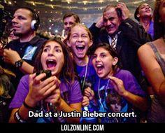 Dad At A Justin Bieber Concert...#funny #lol #lolzonline