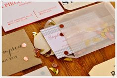 Stephanie's card is an instant party in a teensy glassine envelope.