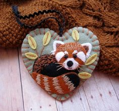Red Panda Ornament by SandhraLee on Etsy