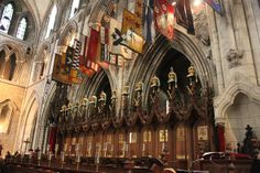 Banners of Knights of the Order of Saint Patrick, Cathedral of St. Patrick in Dublin.