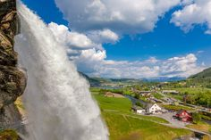 Nordheimsund by Terje Thorsen Waterfall, Outdoor, Asylum, Outdoors, Waterfalls, Outdoor Games, Rain, The Great Outdoors