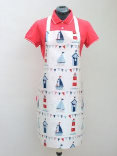 Boats Lighthouses & Beachhuts Adult PVC Apron by OneLeggedGoose