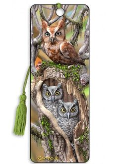 Artgame 3D Owls Bookmark
