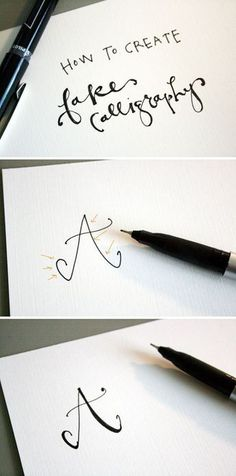 Great tutorial on How to create fake calligraphy | Jones Design Company