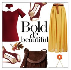 """Bold Fall"" by frenchfriesblackmg ❤ liked on Polyvore featuring Frye, Jimmy Choo, Chicwish, Magdalena, Anne Klein and Charter Club"
