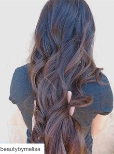 long brown hair with subtle highlights