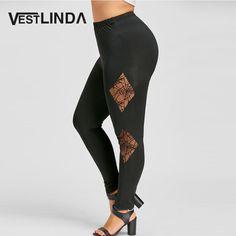 Plus Size Spider Web Insert Leggings Casual Leggings Women Fitness Leggings Autumn Winter Pants Lace Pencil Pants Workout Leggings, Women's Leggings, Cute Fashion, Plus Fashion, Womens Fashion, Plus Clothing, Cool Gear, Fall Winter, Autumn