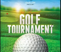 Perfect Golf Tournament Flyer Template