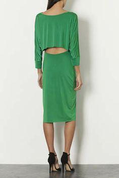 Top Shop Slinky Open Back Midi Dress | $90