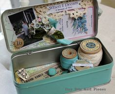 Itsy Bits and Pieces:art assemblage