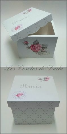 Les Cosetes de Dudu: TALLER DE TRÁNSFER Y DECOUPAGE CON NÚRIA Decoupage Box, Decoupage Vintage, Tole Painting, Painting On Wood, Fun Crafts, Diy And Crafts, Dyi Decorations, Pretty Box, Altered Boxes