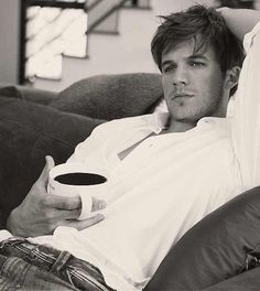 Matt Lanter. Aaaaand hes a coffee drinker.