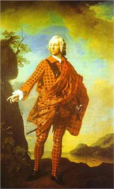 Portrait Oil Painting Man With Kilt