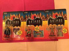 Batman The Animated Series Die Cast Action Figures - Lot of 3 #Ertl