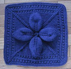 Lucky 4-Leaf Afghan Block Free Knit Afghan Square roundup on Moogly!