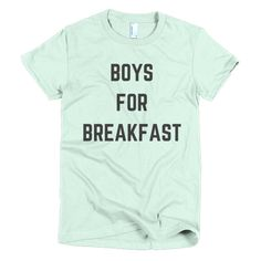 BOYS FOR BREAKFAST - Short sleeve women's t-shirt – FRENCH FRIES AND APATHY