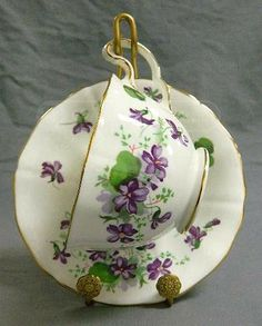 Adderley Fine Bone China Cup and Saucer Display